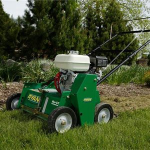 power raking machine